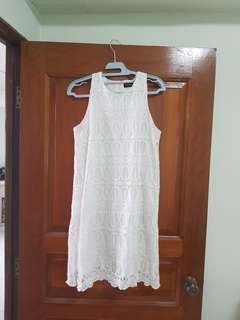 FYN lace dress in white size L