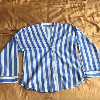 Stripes shirt blue