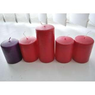 Bundle of 5 candles - $12 for all