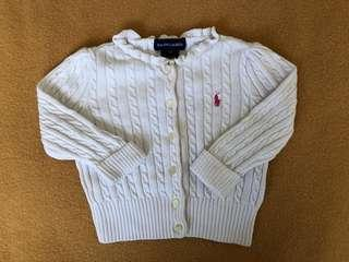 RALPH LAUREN Baby Cotton Knit Top 9M, White
