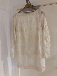 Shona Joy backless long sleeve mini dress made in Australia