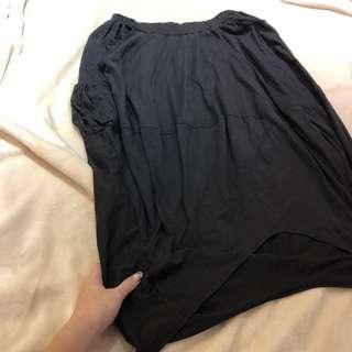 🚚 全黑鬆緊長裙