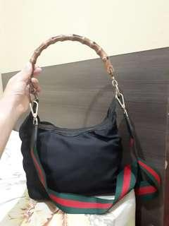 Gucci Sling Bag with Bamboo Handle