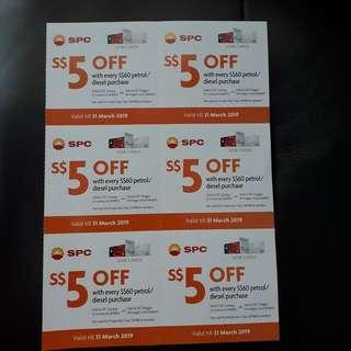 FREE SPC petrol vouchers!