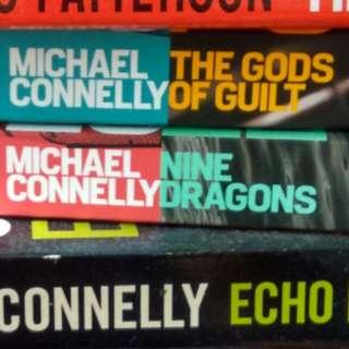 3for$10 holiday reads. great for lny lwe!michael connelly gods of guilt, nine dragons, echo park. $6 each