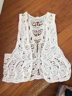 White lace vest Korean style