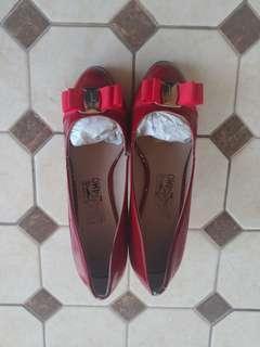 Salvatore Ferragamo red heels