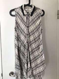 Long sleeveless shirt dress top from Initial Hong Kong