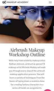 Airbrush Makeup Workshop - QC Academy (Online)