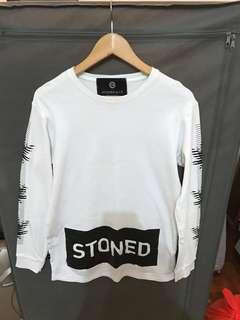 Stoned Dialogue Long Sleeve Tshirt White