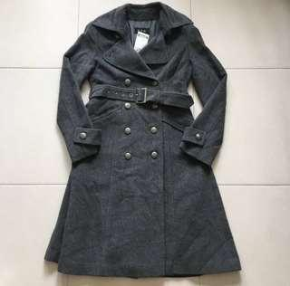 BN 100% Pure Wool Fully Inner Lined Skirted Button Pea Coat
