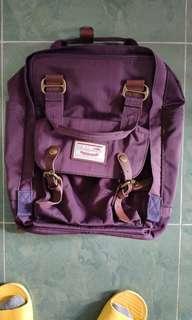 Daughnut Macaroon 紫色背囊 90%新