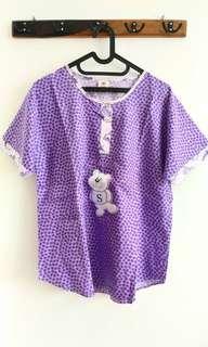#CNY2019 Purple Bear Pajama Top
