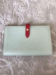 Celine strap wallet in Aqua and red