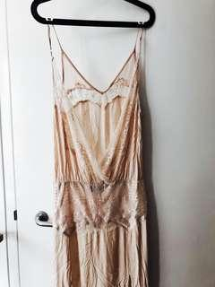 Bali beige lace maxi dress from Magali Pascal