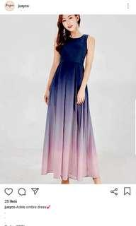 Jusyco adele ombre dress