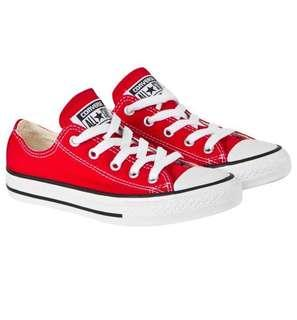 🚚 BNIB Converse Shoes red unisex 100% authentic