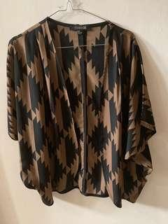 Outer zigzag brown