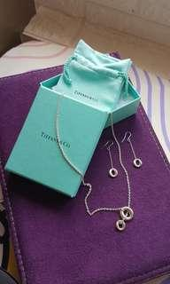 Tiffany Necklace & Earring 頸鏈 耳環