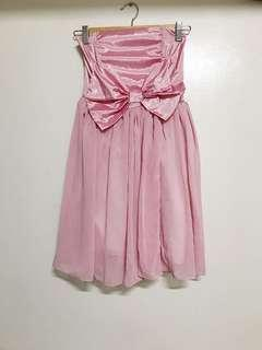 Pink Strapless Dress
