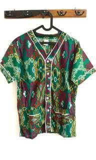 #CNY2019 Green Batik Pajama Top