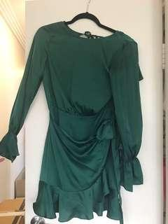 Emerald open back dress