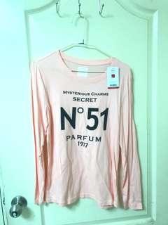 🚚 全新pazzle粉色長袖上衣 #一百均價
