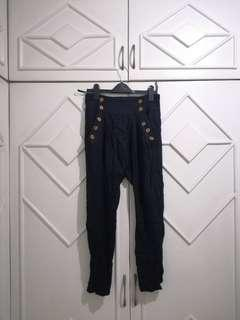 authentic Topshop hareem navy highwaisted pants