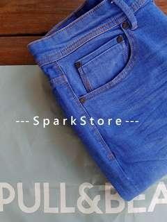 Pull&Bear Celana Jeans Biru Super Skinny Fit