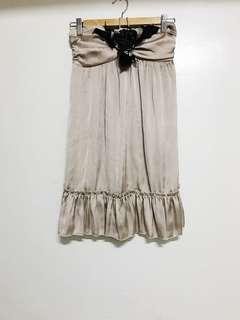 Bronze Babydoll Silk Dress