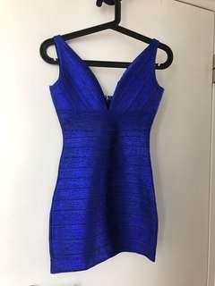 Bandage style blue turquoise dress