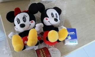 mickey, minnie 米奇米妮情侶公仔,情人節禮物
