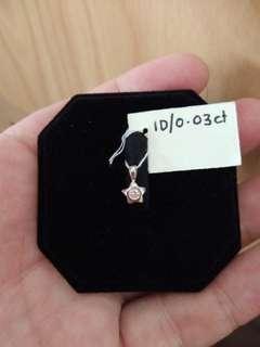 Celestial Diamond pendant 18k white gold