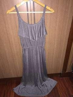 Ruffled Gray Dress
