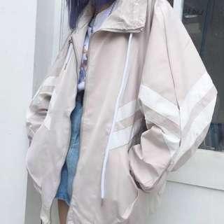(CURRENTLY UNAVAILABLE)PO: Oversized Striped Windbreaker Jacket