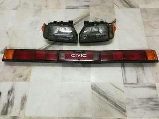 Honda Civic SB3 Headlight & Rear Light