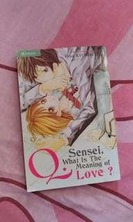 Komik Sensei, What is the Meaning of Love? - Hisa Kyomachi