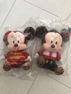 Mickey & Minnie brand new in plastic bags - Changi Airport limited edition
