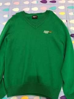 🚚 Benetton v-neck sweater v領綠色毛衣 Msize