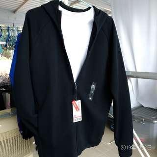 全新Baleno 黑色 New Black Slim Fit Hoodie Jacket,size m