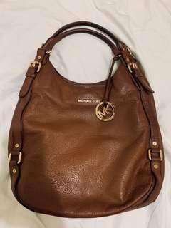 MK leather shoulder bag