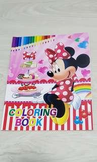 Coloring sticker books