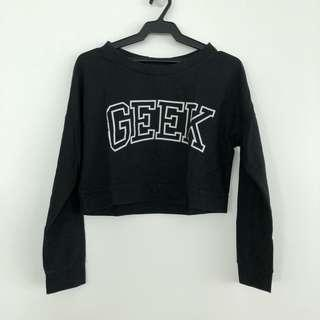 Black Crop Sweater