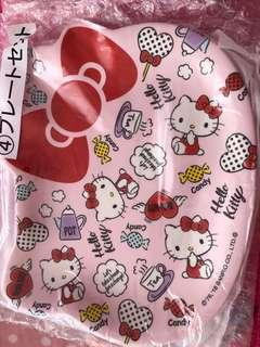 Sanrio Hello Kitty plates in 2 pink & white