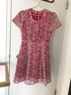 Floral dress for CNY