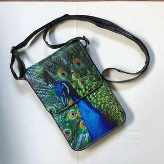 Sling Bag - Peacock Design