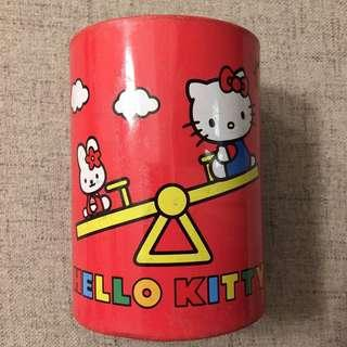 Hello Kitty 筆筒 金屬 Sanrio 2003