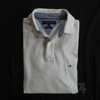 Tommy Hilfiger Longsleeve Polo Shirt Putih