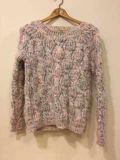 粉彩粗針織毛衣
