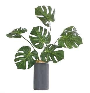 🚚 Table Arrangement Artificial PU Monstera with Vase